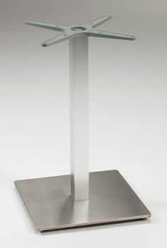 Sirran brushed stainless steel dining table square base