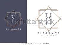 Elegant Vector X Logo Two Color Stock Vector (Royalty Free) 1155720178 Identity Design, Monograms, Art Deco Fashion, Royalty Free Stock Photos, Logo, Elegant, Illustration, Artist, Image