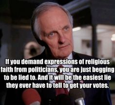 The West Wing - The brilliant show strikes again through the ever awesome Alan Alda