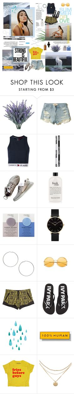 """""""i know summer's over for y'all but it's never over for me"""" by virgotrash ❤ liked on Polyvore featuring Hollister Co., Tommy Hilfiger, Ivy Park, philosophy, Nails Inc., CLUSE, Miss Selfridge, Barbara Bui, NIKE and Everlane"""