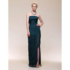 Chiffon Sheath/Column Strapless Floor-length Evening Dress inspired by Rachel Weisz  – GBP £ 104.39