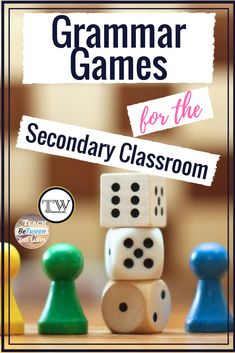 Grammar Games for the Secondary Classroom! Teaching Grammar, Sentence Structure, games for sentence structure, #grammar #teachinggrammar #grammarlessons #grammargames #writinglessons