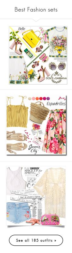 """""""Best Fashion sets"""" by the-vintage-palace2016 ❤ liked on Polyvore featuring Kerr®, Dolce&Gabbana, flower, dolceandgabbana, Soludos, Caterina Bertini, Salvatore Ferragamo, Deborah Lippmann, Do Everything In Love and GRLFRND"""