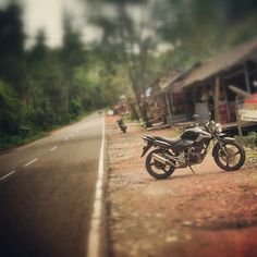 Rest Long trip with my little motorcycle