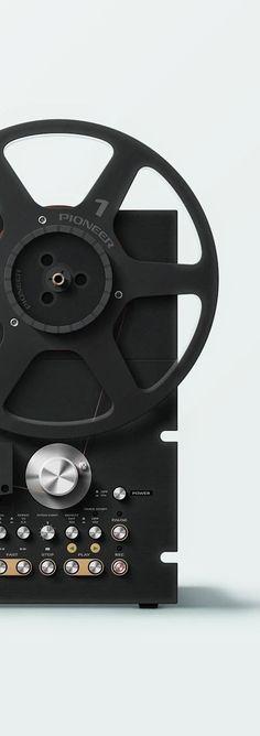 products we like / Pioner / recorder / Black / Vintage / knobs / Consumer electronics / at Design Binge