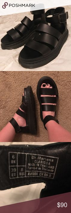 Clarissa doc martens chunky sandal !! barely worn! Size 8 !! Dr. Martens Shoes Combat & Moto Boots