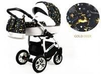 Kinderwagen Tropical Gold Deer 3in1 Set Wanne Buggy Babyschale Autositz Mit Zubehor