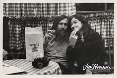 Jim and Cheryl Henson sharing some Kermit cookies, 1970s.