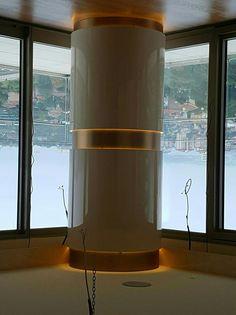 Top Interior Design Trends 2018 #InteriorDesignColleges Refferal: 1919547068 #BestInteriorDesignInstagram Mall Design, Lobby Design, House Design, Columns Decor, Interior Columns, Cladding Design, Interior Cladding, Restaurant Interior Design, Best Interior Design