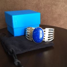 Spotted while shopping on Poshmark: VINTAGE Mexican silver Lapis cuff.! #poshmark #fashion #shopping #style #Jewelry
