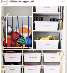 Sand Toys, Water Toys, Nursery Toys, Rain Gear, Toy Storage, Go Outside, Garage, Diy, Closet