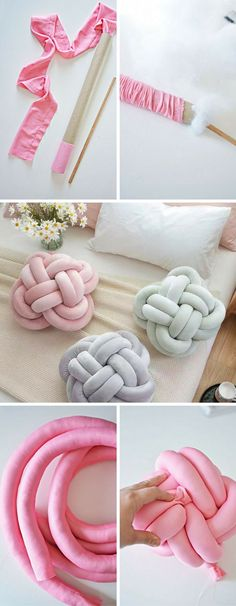 Try This DIY Knot Pillow! It is Effortless And Costs Almost Nothing (Posts by Concilia Banda) Must Try This DIY Knot Pillow! It is Effortless And Costs Almost NothingMust Try This DIY Knot Pillow! It is Effortless And Costs Almost Nothing Diy Crafts Home, Fun Crafts To Do, Easy Crafts, Easy Diy, Diy Para A Casa, Knot Pillow, Knot Cushion, Sewing Projects, Diy Projects