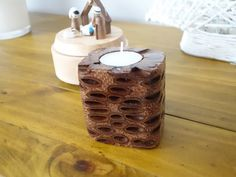 Banksia seed pod candle holder