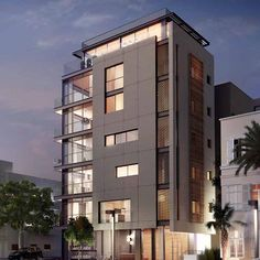 Tel Aviv (תל אביב) à תל אביב - Luxury real estate project Residential Building Design, Office Building Architecture, Building Exterior, Building Facade, Facade Architecture, Residential Architecture, Steel Structure Buildings, Modern Buildings, Facade Design