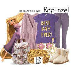 Rapunzel by leslieakay on Polyvore featuring dVb Victoria Beckham, UGG Australia, Candie's, Aurélie Bidermann, Kevin Jewelers, disney and disneybound