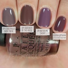 OPI Squeaker Of The House | Washington D.C. Collection Comparisons | Peachy…