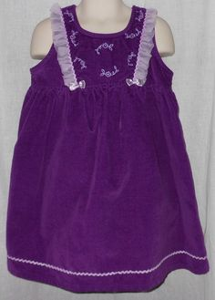 Girls 4T Purple Velvet Dress - Sesame Street - Lavender Flowers - No Fee $8.99