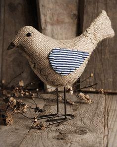 Decorative Burlap Bird