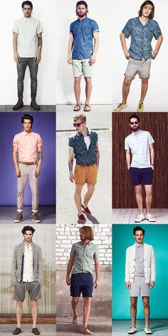 Men's Spring/Summer Short-Sleeved Shirts Outfit Inspiration