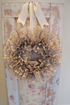 """The coffee filter wreath was such a hit, that I decided to make another wreath for my lovely lady Felicia """"Reed"""" Resor, who is brilliant, cr..."""