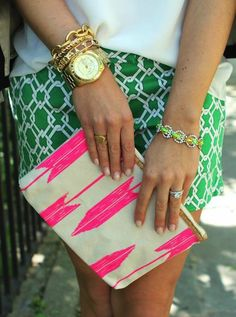 mixing prints and patterns with our mustique bag!