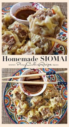 Easy to make Siomai (Filipino Dumplings) with delicious dipping sauce.Easy to make Siomai (Filipino Dumplings) with delicious dipping sauce. Pinoy Food Filipino Dishes, Filipino Desserts, Filipino Appetizers, Easy Filipino Recipes, Healthy Recipes, Asian Recipes, Cooking Recipes, Ethnic Recipes, Vegetarian Recipes