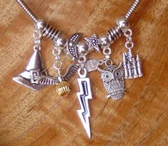 Harry Potter fit snake chain style charm necklace