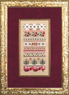 Just Nan - JN182 Christmas Ribbons • Counted Thread Cross Stitch Designs from Just Nan