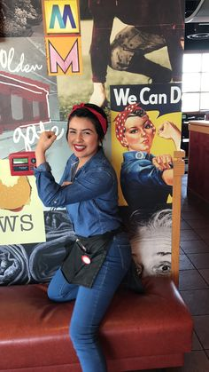 Rosie the Riveter inspired outfit for spirit week : decades day : costu. - Rosie the Riveter inspired outfit for spirit week : decades day : costu.