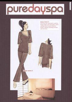 Vienna Day Spa uniform design illustrations by Fashionizer production team