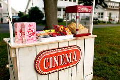 Concession Stand for Movie Night Birthday Party. #MovieNight #MovieParty #TheGoodsShoppe http://etsy.me/1o0b9Jv