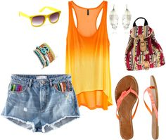 Summer Chic, created by chanechane on Polyvore.. want these shorts!!