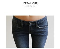 Brushed-Fleece Lined Skinny Jeans - 24mg | YESSTYLE