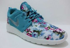 quality design 4b37f f7fc7 High Quality Nike Roshe Run Floral 2015 Womens Flower University Blue  Metallic Silver Black Friday Shoes