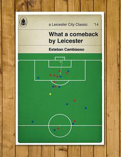 Leicester City FC  Esteban Cambiasso  Goal v by headfuzzbygrimboid