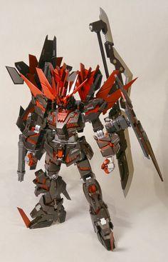 """Custom Build: HGUC 1/144 Banshee Norn """"Red Banshee"""" - Gundam Kits Collection News and Reviews"""