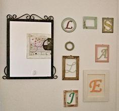 Letras y marcos en madera