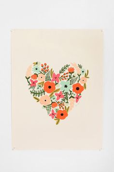 Love Rifle Paper Co. $34 Floral Heart Print (Urban Outfitters)
