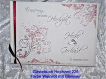 Gästebuch Hochzeit,Vintage,Farbwahl,Blüten, GB225
