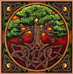 Stunning Tree of Life blank card with Celtic knot border Pagan Wiccan Freepost in Home, Furniture & DIY Cross Stitching, Cross Stitch Embroidery, Cross Stitch Patterns, Stitching Patterns, Celtic Symbols, Celtic Art, Wiccan Symbols, Celtic Dragon, Celtic Knots