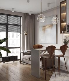 The best interior design inspiration! Condo Interior Design, Condo Design, Furniture Design, House Design, Luxury Furniture, Small Apartment Layout, Small Apartment Interior, Small Apartments, Living Room Designs