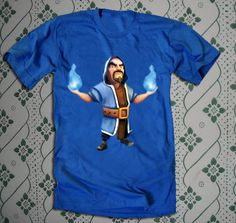 wizard of clash of clan characters on youth and adult unisex TShirt apparel cloth