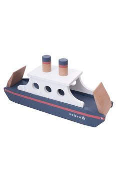Let your little captains' imaginations run wild with this Sebra wooden ferry; move cars or other toys safely across the floor, sail to familiar surroundings, discover unknown islands, go on a trip to visit family and friends or make new acquaintances on your journey. Painted with non-toxic paint and crafted in a quality that can be passed down to the next generation. #woodentoys #imaginativeplay