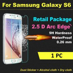 Ultra Thin HD 2.5D For Samsung Galaxy S6 Premium Tempered Glass Screen Protector 0.26mm Clear Front Protective Film With Box $8.99   #beautiful #style #streetstyle #pretty #iwant #cute #dress #ootd #love #cool #styles #stylish #instalike #swag #beauty
