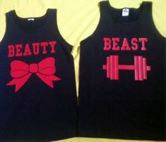 Free Shipping for US Beauty And The Beast Valentine's Matching Couples Tank Tops/Shirts:Color Black on Etsy, $38.00