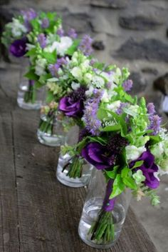Purple Wedding Flower Bouquet, Bridal Bouquet, Wedding Flowers, Add Pic Source On Comment And We Will Update It. Can Create This Beautiful Wedding Flower Look. Purple And Green Wedding, Purple Wedding Flowers, Bridal Flowers, Purple Wedding Centerpieces, Bright Purple Wedding Theme, Purple Yellow, Bright Green, Purple Colors, Purple Gold
