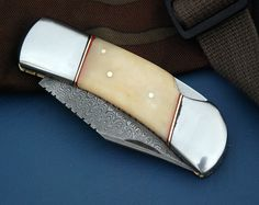 GCrafter Damascus Pocket Knife