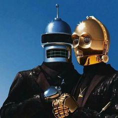 Friend of mine sent this to me yesterday. I may have to do this for DragonCon. Any other Daft Punk cosplayers with a set of HAA leathers want to do the other half? 3PO doesn't quite work though. Maybe Calculon? Hedonism Bot?