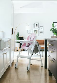 Beautiful designed Oribel high chair fits most of a modern home.
