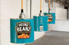Upcycling Lampe aus Heinz Beanz Konservendosen